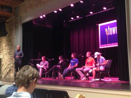 Startup growth panel at eTown during Boulder Startup Week.