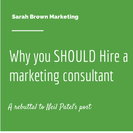Why you should hire a marketing consultant