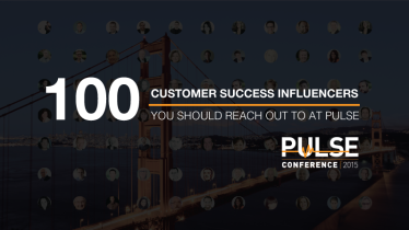Top 100 Customer Success Influencers at Pulse.