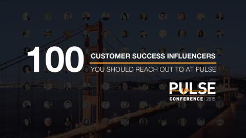 Top 100 Customer Success Influencers at Pulse.